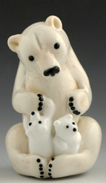 lampwork glass bead - bear